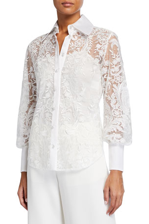 Marchesa Lace Shirt