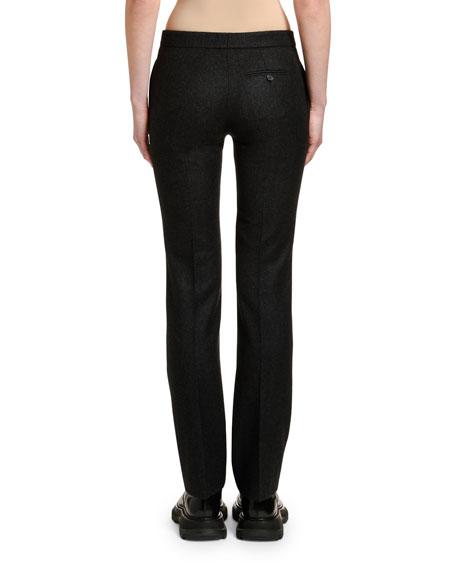Alexander McQueen Men's-Cut Oxbridge Flannel Tuxedo Pants