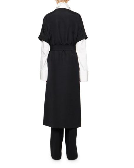THE ROW Miriam Short-Sleeve Wrap Front Maxi Dress