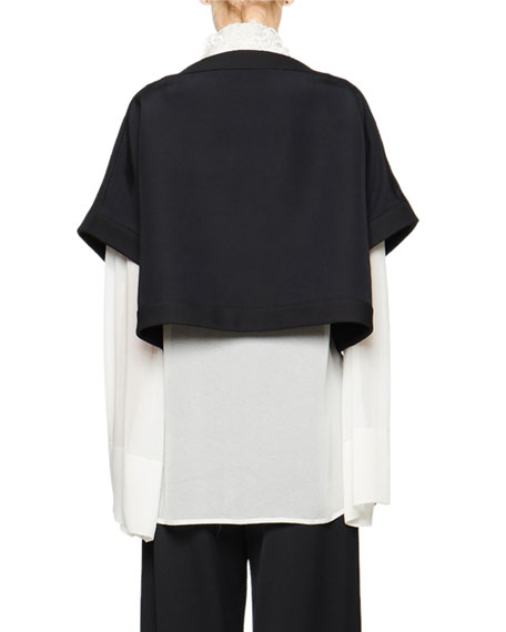THE ROW Miri Wool-Silk Crop Jacket
