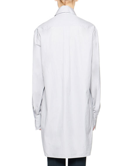 THE ROW Pedro Cotton Button-Front Long Tunic