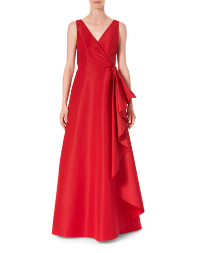 Icon 2.0 Silk Cascading V-Neck Gown