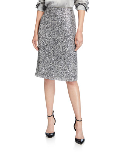 Rera Sequined Pencil Skirt