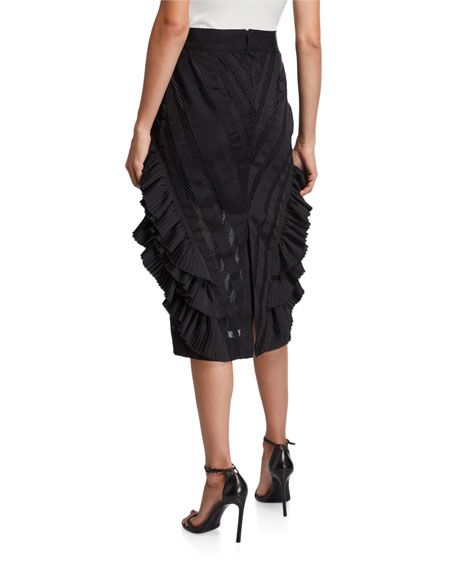 Image 2 of 3: UNTTLD Victoria Wing-Pleated Skirt