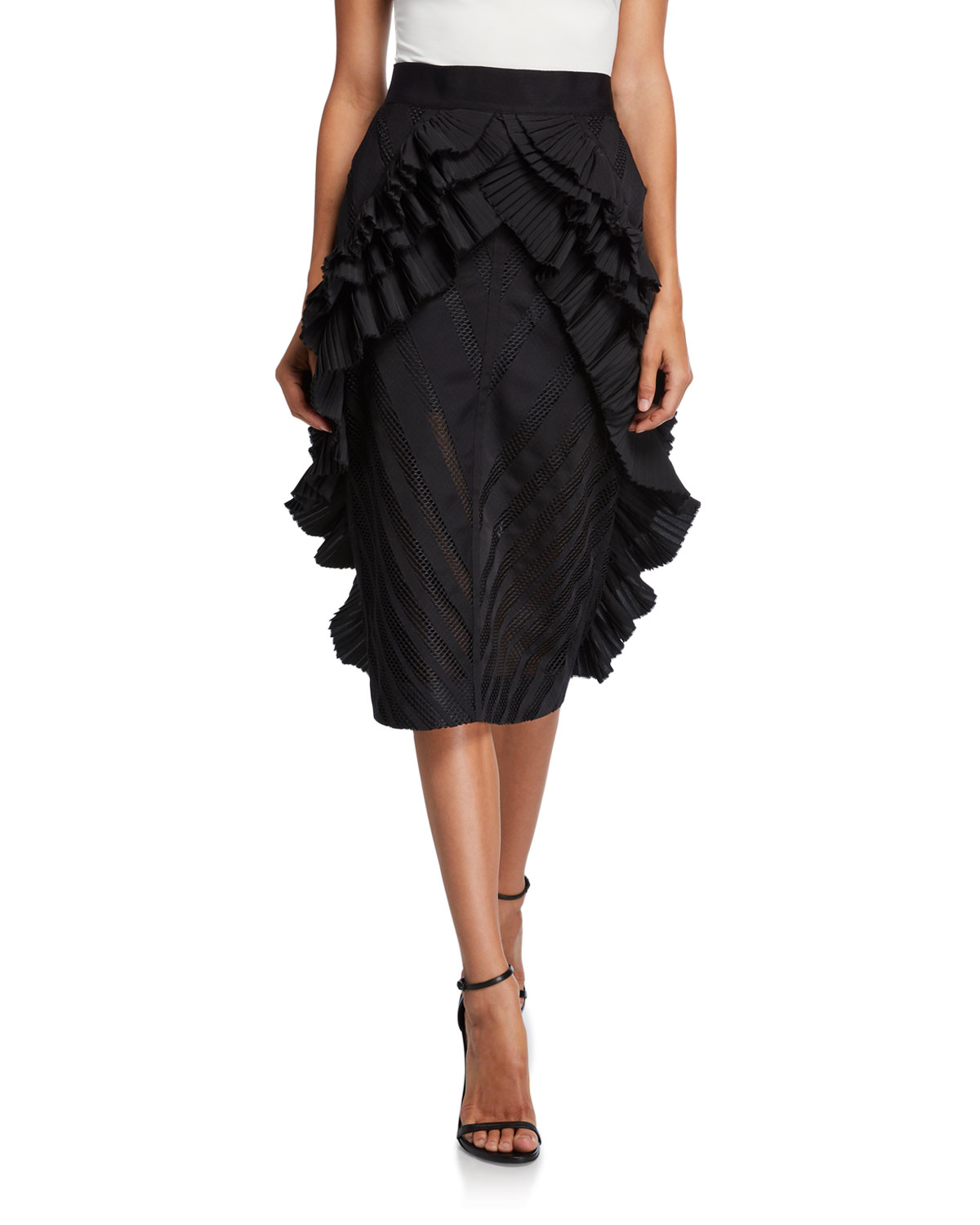 UNTTLD Victoria Wing-Pleated Skirt