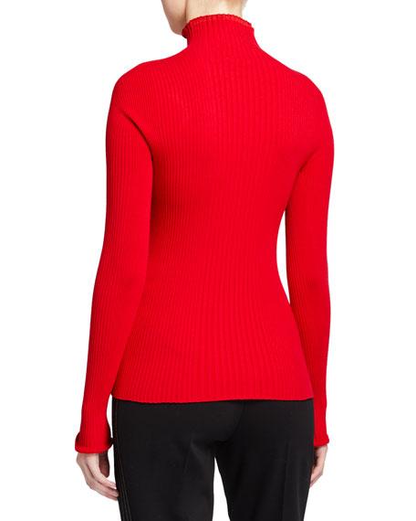 Escada Sport Sashada Frill Turtleneck Sweater