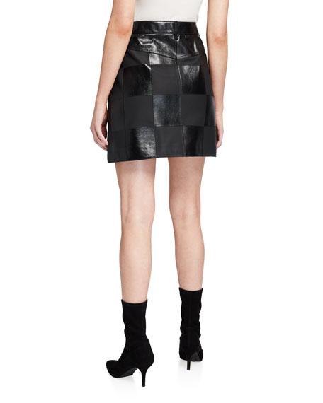 Escada Sport Lalla Checkered Leather Skirt