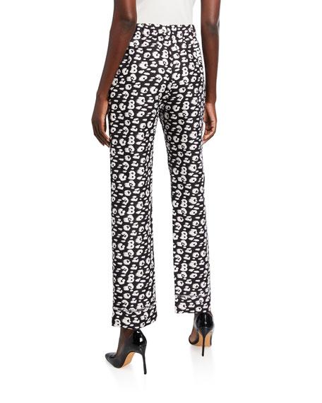 Brandon Maxwell Cheetah-Print Shantung Pajama Pants