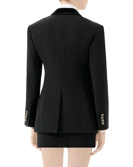 Gucci Two-Tone Silk-Wool Cady Tuxedo Jacket