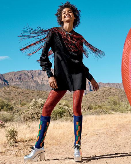 Gucci Metallic GG Rhombus Jacquard Cardigan