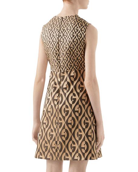 Gucci G Rhombus Jacquard Wool Dress