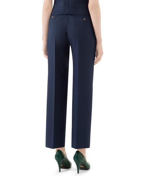 Gucci Fluid Drill Straight-Leg Pants