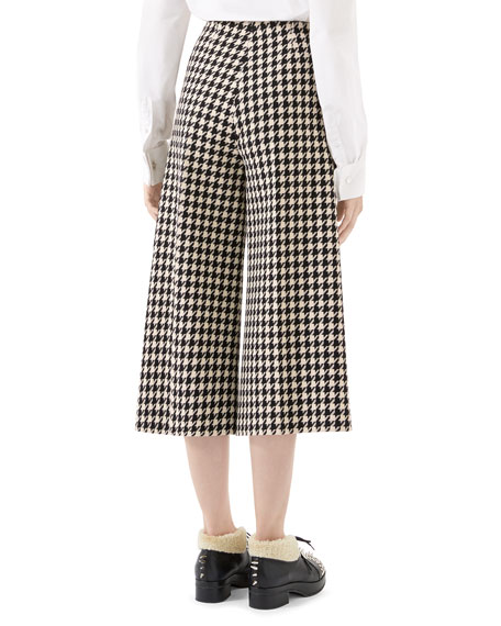 Gucci Houndstooth Culotte Pants