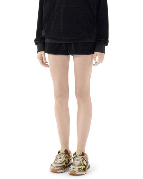 Gucci Satin-Trim Chenille Shorts