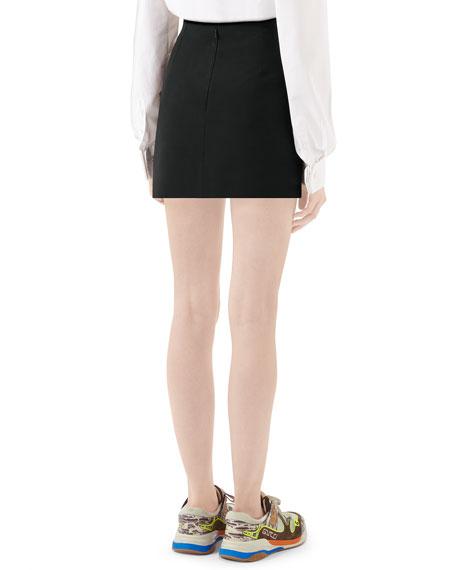 Gucci Silk/Wool Cady Mini Skirt