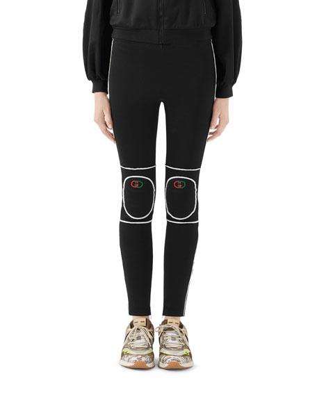 Gucci Tech Jersey Kneepad Leggings