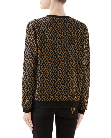 Gucci Metallic GG Rhombus Jacquard Sweater