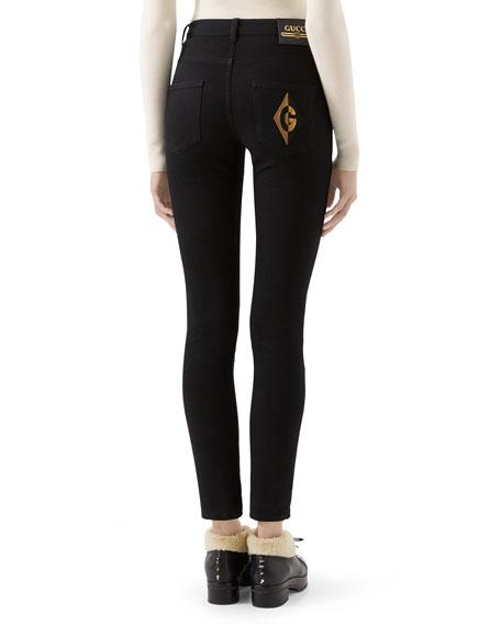 Gucci Soft-Washed GG-Pocket Skinny Jeans