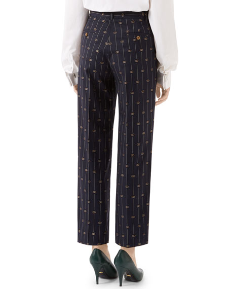 Gucci Retro GG Wool Pants