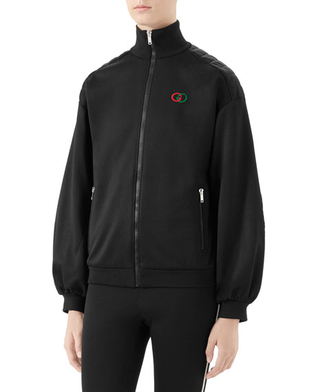 Gucci Tech Jersey Elbow-Pad Track Jacket