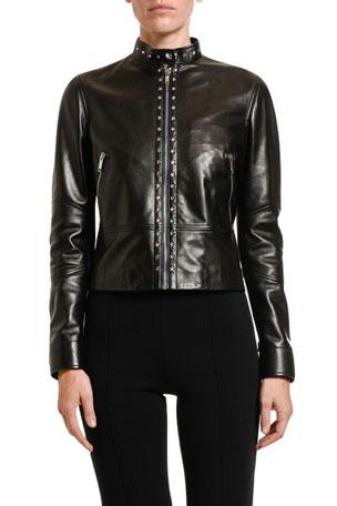 Valentino Studded Leather Moto Jacket