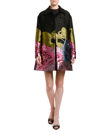 Valentino Floral Embroidered Topper Coat
