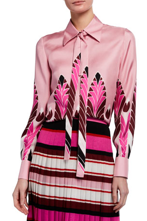 Valentino Printed Silk Shirt