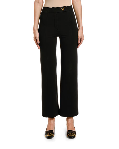 Image 1 of 2: Valentino Jersey Pants with Logo Detail