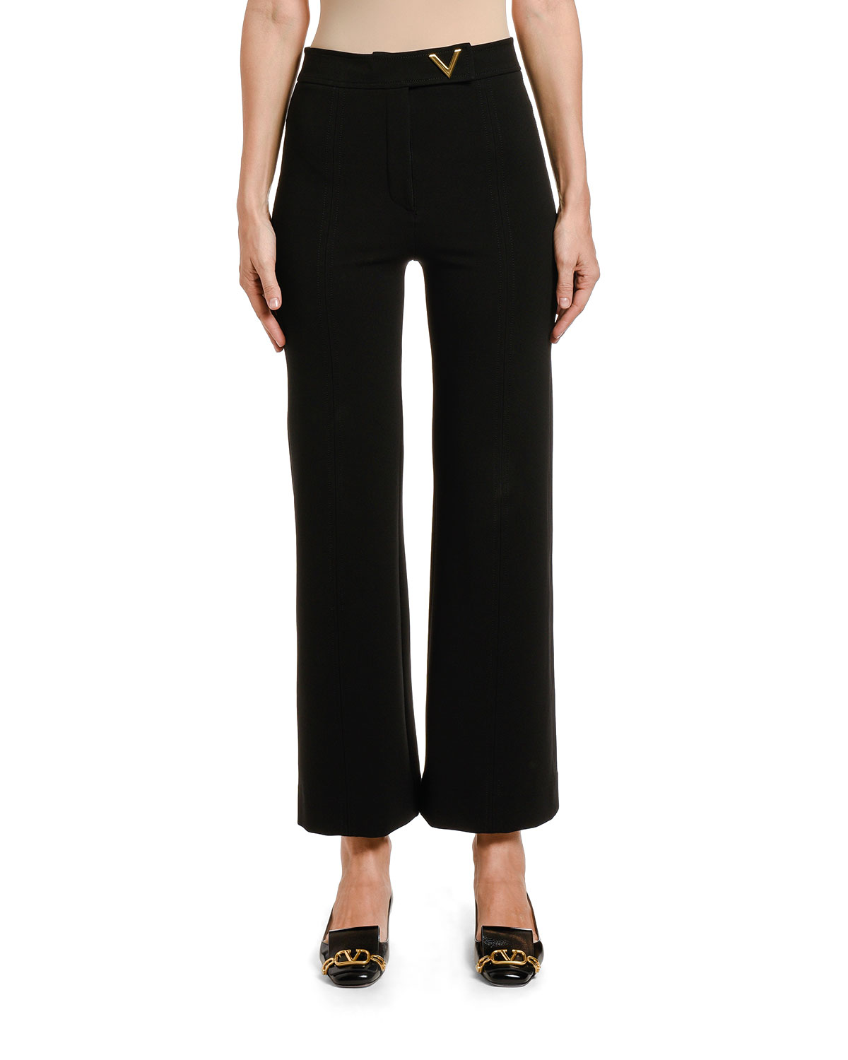 Valentino Jersey Pants with Logo Detail