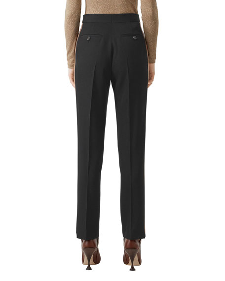 Image 2 of 5: Burberry Wool Side Striped Trousers