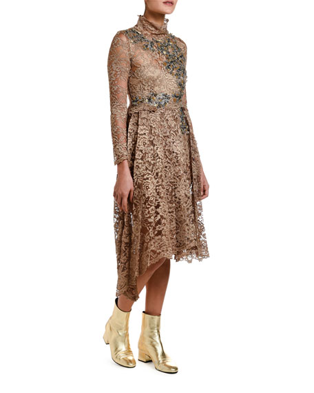 Antonio Marras Lace Dirndl-Skirt Dress