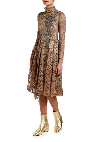 Antonio Marras Lace Dirndl-Skirt Dress