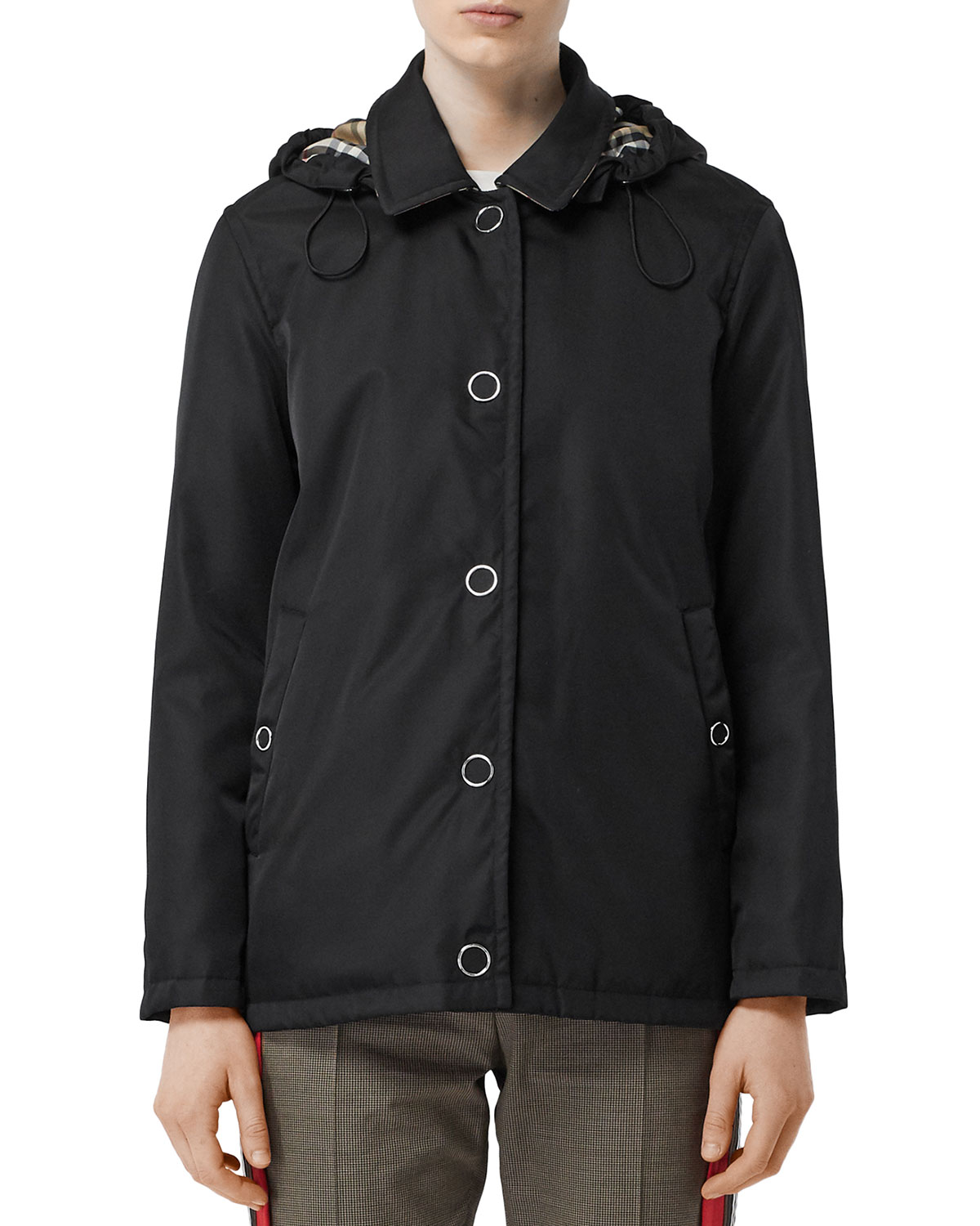 southport-hooded-short-car-coat by burberry