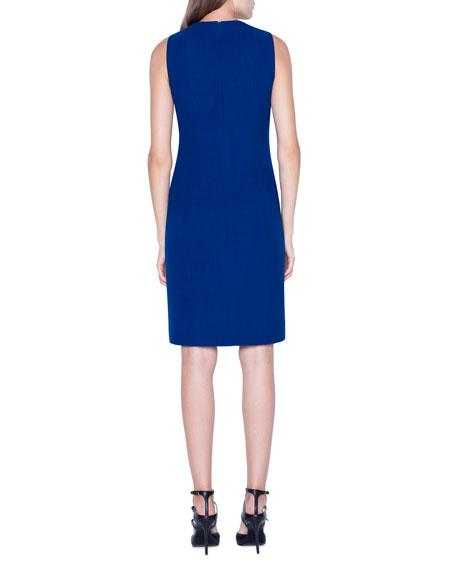 Akris Crepe V-Neck Sheath Dress
