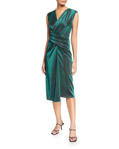 Gretchen Shimmered Wrap Dress
