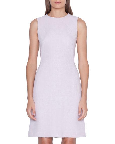 Akris Sleeveless Linen-Wool Sheath Dress