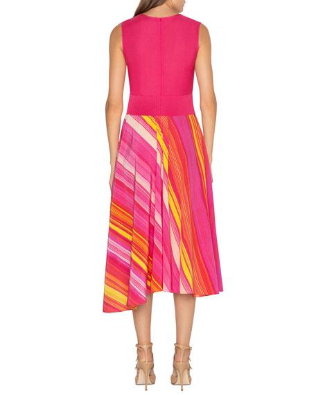 Akris Silk Knit-Top Cocktail Dress