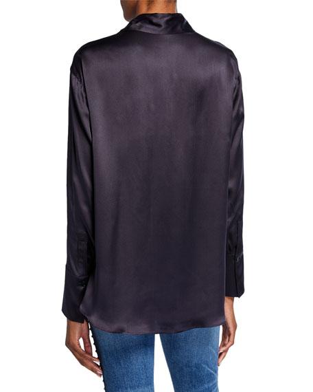 Stella McCartney Silk Lace-Yoked Western Blouse