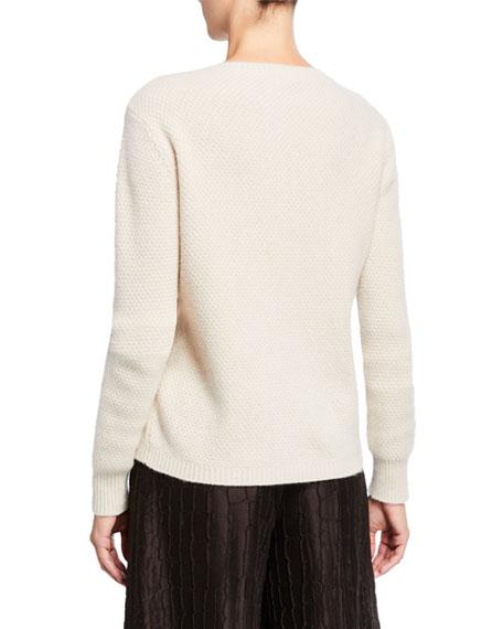 Maxmara Cashmere Cable-Stitched Crewneck Sweater