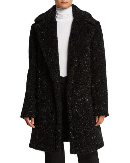 Maxmara Metallic Specked Teddy Coat
