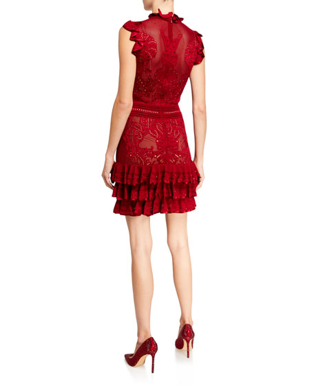 Zuhair Murad Dragon Embroidered Ruffled Dress