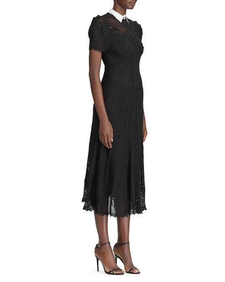 Ralph Lauren Collection Handknit Crocheted Dress with Slip