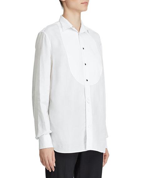 Ralph Lauren Collection Marlie Bibbed Tuxedo Shirt