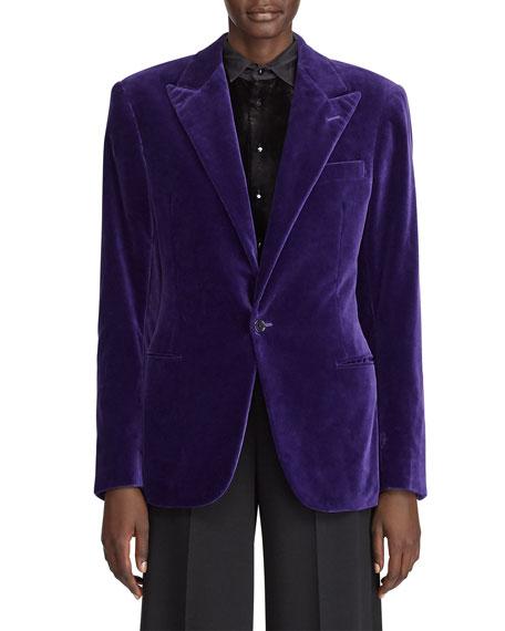 Ralph Lauren Collection Fern Cotton Velvet Jacket