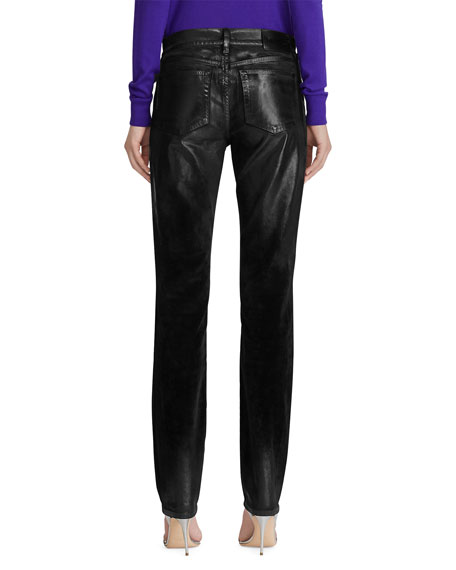 Ralph Lauren Collection Velvet Slim-Leg Jeans