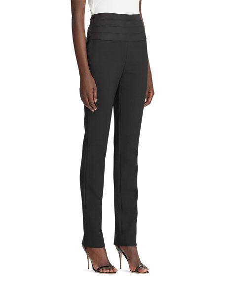 Ralph Lauren Collection Eliza Cummerbund Waist Slim Leg Pants