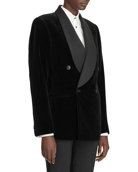 Ralph Lauren Collection Gregory Velvet Satin-Lapel Jacket