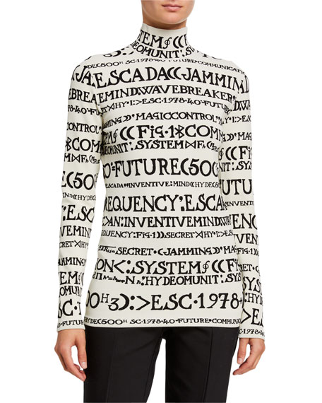 Escada Extras Long-Sleeve Printed Top