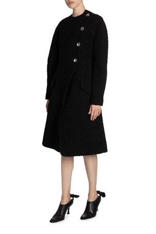 Proenza Schouler Bonded Boucle Tweed Coat