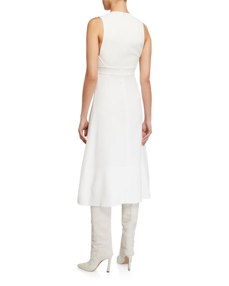 Image 2 of 2: Proenza Schouler Sleeveless Barbell-Closure Dress